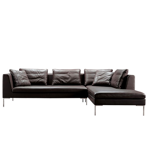 Bernard Leather Sectional Sofa