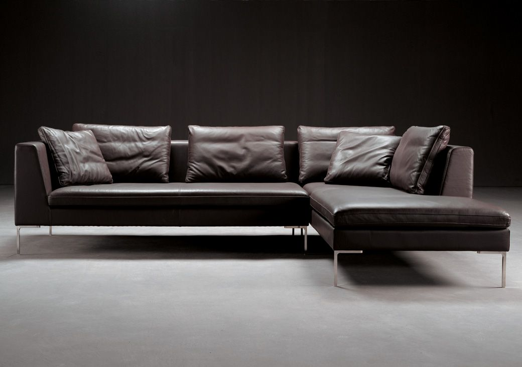 Bernard sectional leather sofa