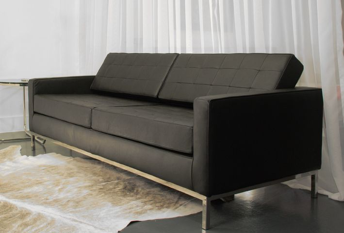 Noll two seater leather sofa