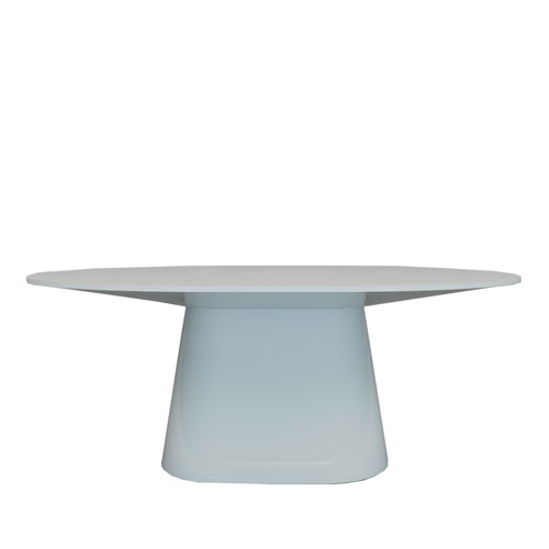 modern white lacquer dining table