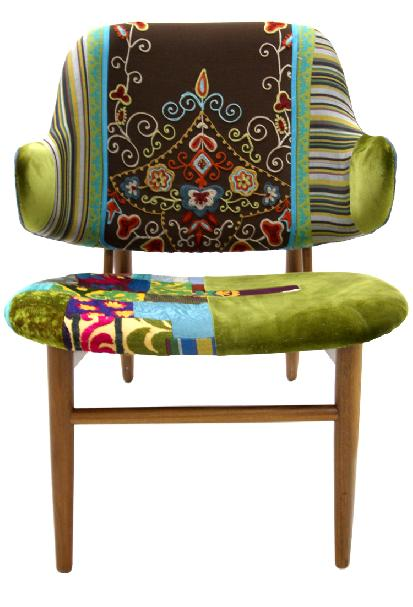 green patchwork armchair at KMPfurniture.com