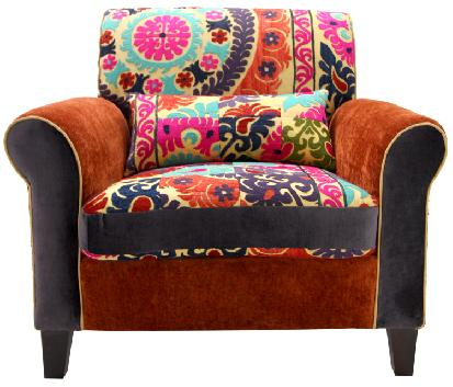 modern patchwork armchairs at KMPfurniture.com