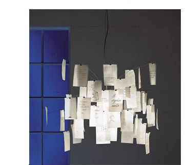 Ingo Maurer notes lamp