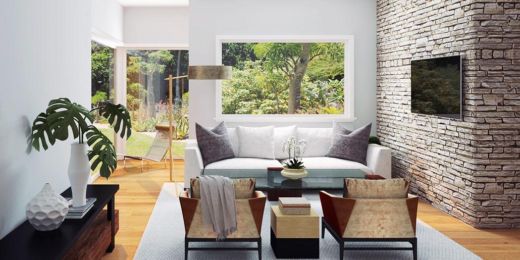 Let the light in - Tropical Modern Livingroom