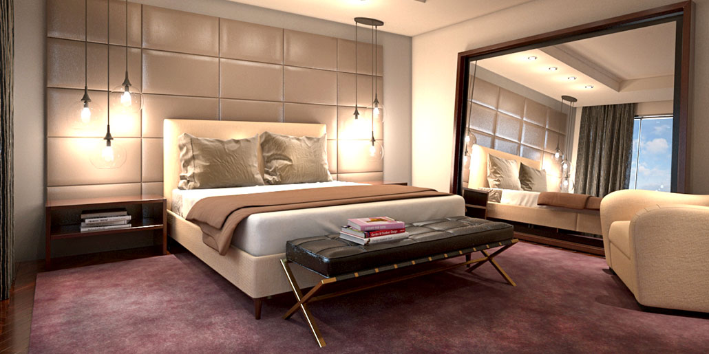 Cozy modern bedroom kmp furniture for South african bedroom designs