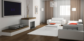 Modern furniture and good interior design; creates atmosphere and style