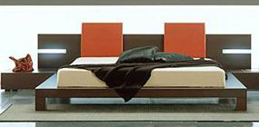 Platform beds is the focal element in the bedroom furniture